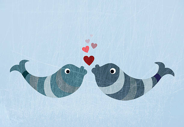Two Fish Kissing Wall Art