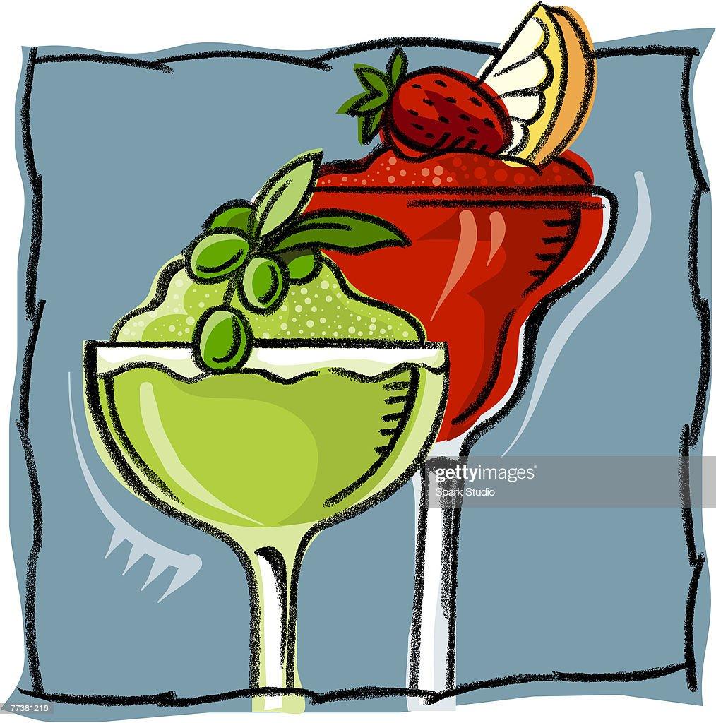 Two glasses of daquiris : Illustration