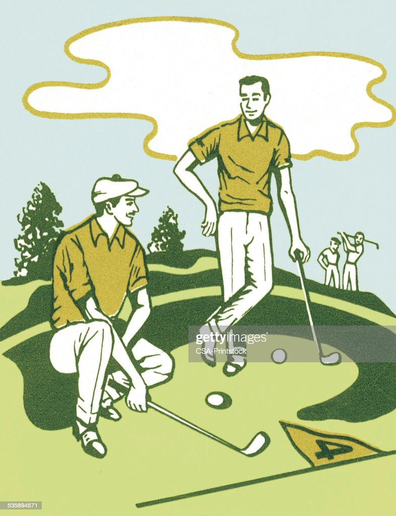 Two Golfers : Illustrationer