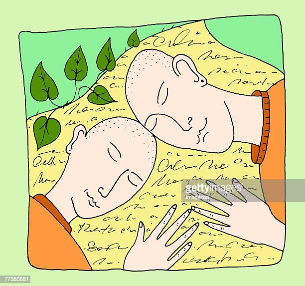 Two Heads Sharing Knowledge Stock Vector - Illustration of learn,  psychology: 142213764
