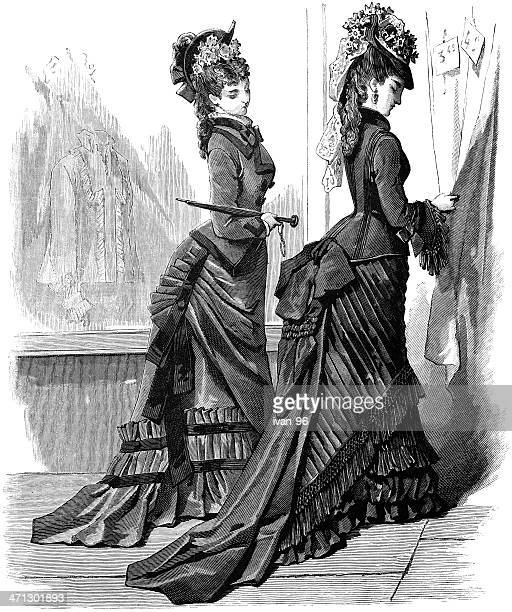 two ladies - en búsqueda stock illustrations