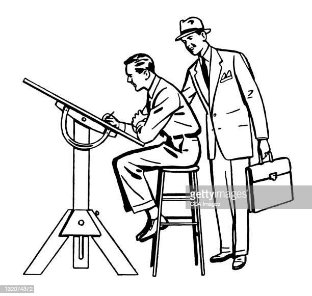Two Men at Drafting Table
