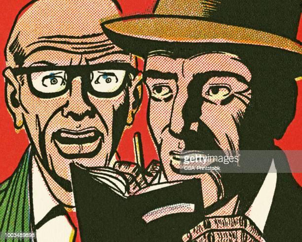 two men - journalism stock illustrations