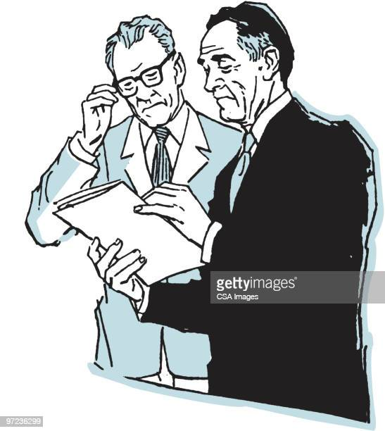 two men talking - two people stock illustrations