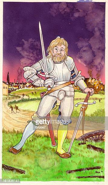two of swords - tarot cards stock illustrations, clip art, cartoons, & icons