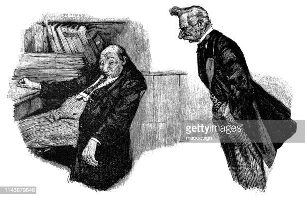 two officials are working - 1896 - 1896 stock illustrations, clip art, cartoons, & icons