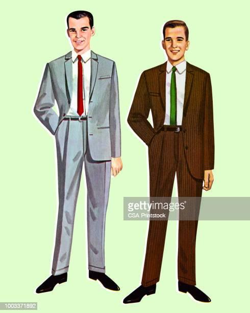 2 つの紙人形の男性 - 紙人形点のイラスト素材/クリップアート素材/マンガ素材/アイコン素材