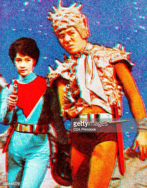 Two People in Outer Space