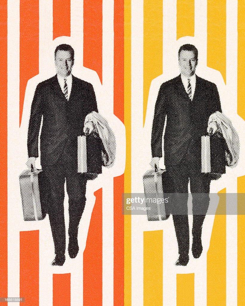 Two Traveling Businessmen : stock illustration