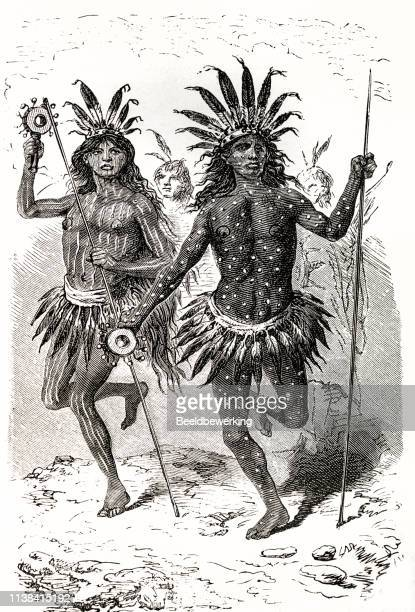 Two tribal north american dancers