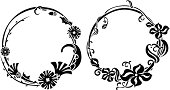 Two wreath stencil