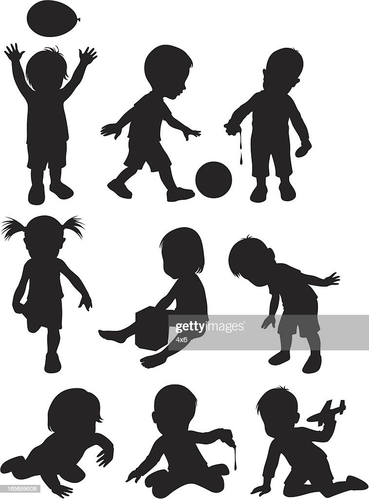 Two year old children ( Cartoon Style )