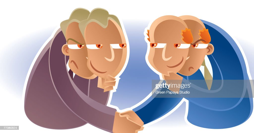 Two-faced businessmen : Stock Illustration