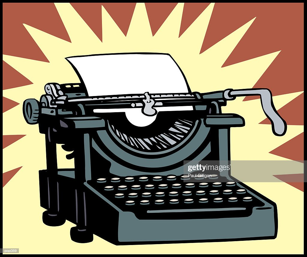Typewriter : Stockillustraties