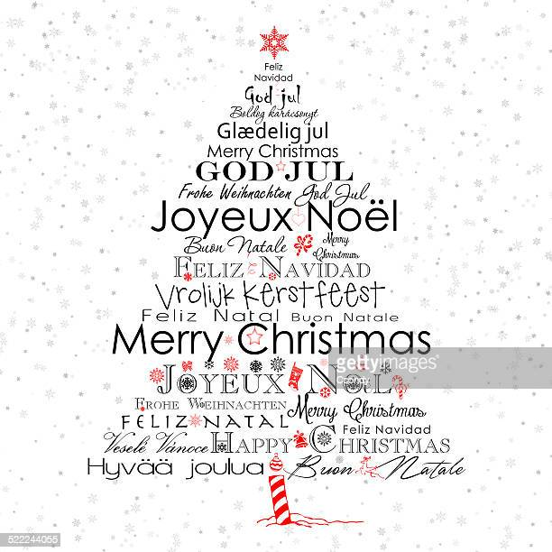 typography christmas tree - single word stock illustrations