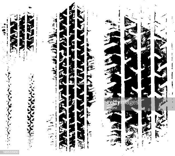 tyre grunge - tractor stock illustrations