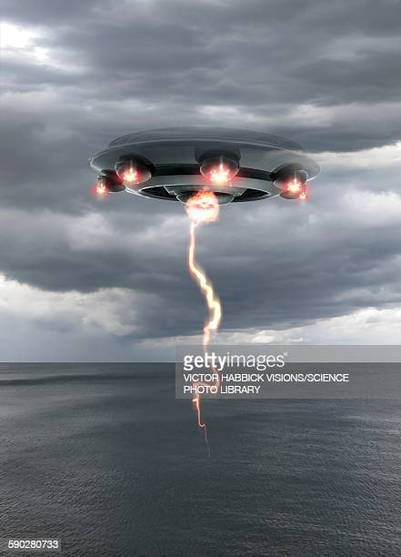 Ufo above the water