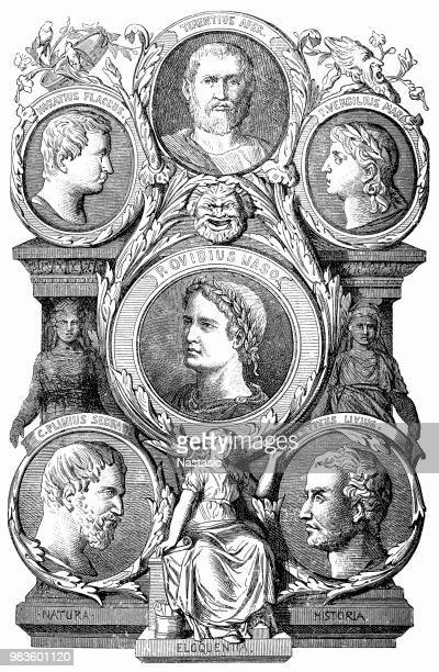 ullius Cicero ,Horatius flaccus ,Terentius Afer ,Virgilius maro ,plinius Secund ,Titus Livius