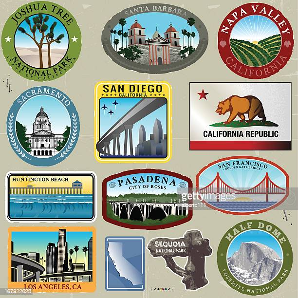 Ultra Styliezed California Travel Stamps