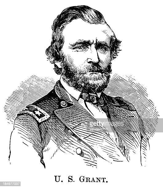 ulysses s. grant - former stock illustrations, clip art, cartoons, & icons