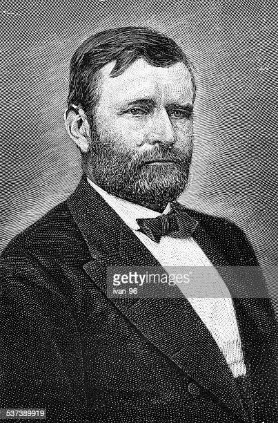 ulysses simpson grant - former stock illustrations, clip art, cartoons, & icons