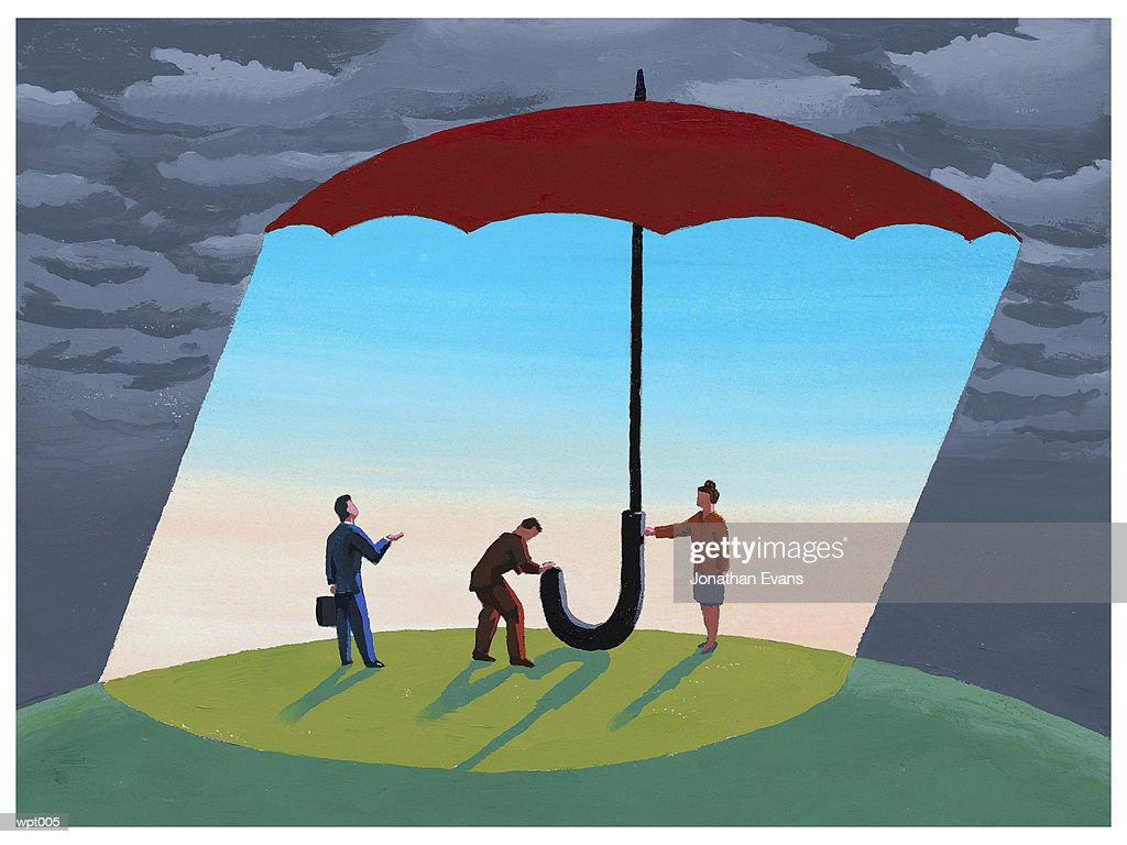 Umbrella of Calm : Stock Illustration