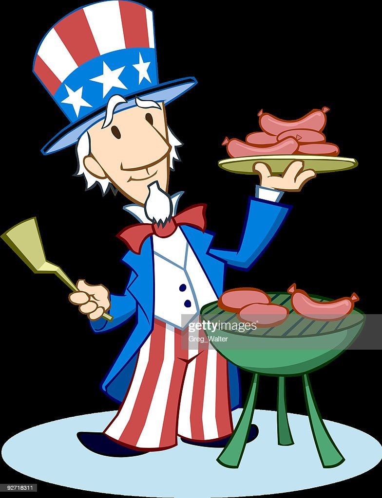 Uncle Sam at the Barbecue Grill