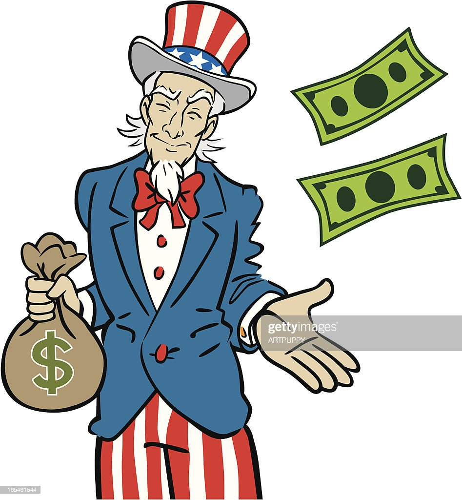 uncle sam taking money vector art getty images rh gettyimages com Fat Uncle Sam Uncle Sam We Want You