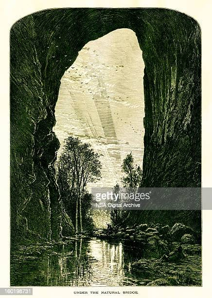 under the natural bridge, virginia - natural arch stock illustrations, clip art, cartoons, & icons