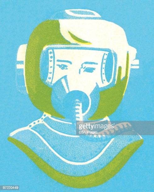 ilustraciones, imágenes clip art, dibujos animados e iconos de stock de underwater gear - arma biológica