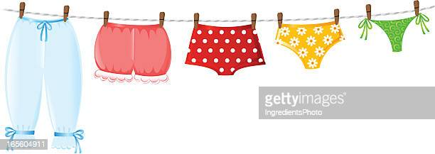 Illustrations et dessins anim s de lingerie f minine getty images - Evolution de la mode ...