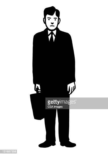 illustrations, cliparts, dessins animés et icônes de unhappy businessman - costume habillé