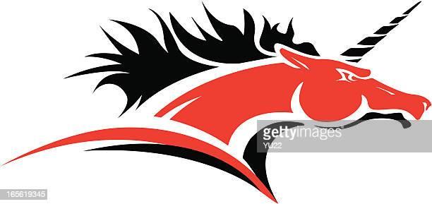 Unicorn head mascot