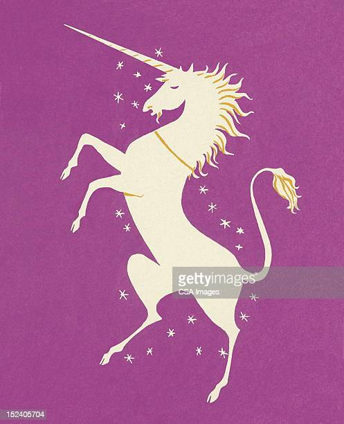 illustrations, cliparts, dessins animés et icônes de licorne se cabrer - unicorn