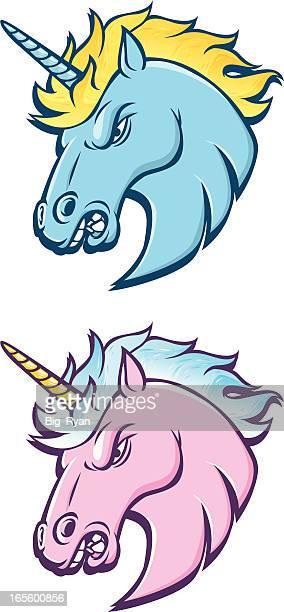 unicorns - unicorn horn stock illustrations, clip art, cartoons, & icons