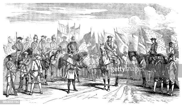 illustrations, cliparts, dessins animés et icônes de uniformes de l'armée français de l'époque de louis xvi - louis 16