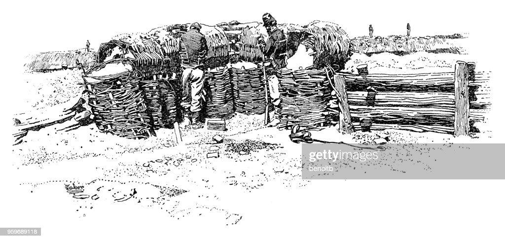 Unions-Armee Post : Stock-Illustration