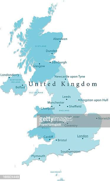 United Kingdom Vector Map Regions Isolated