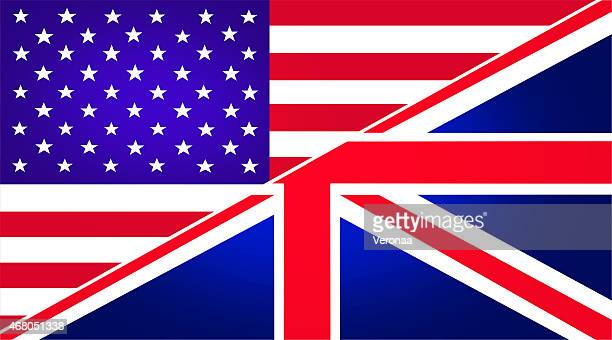 united states and british flag - english culture stock illustrations