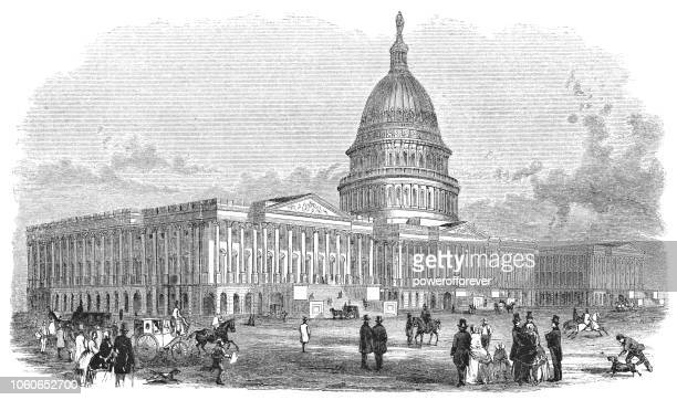 United States Capitol Building in Washington D.C., USA (1859)