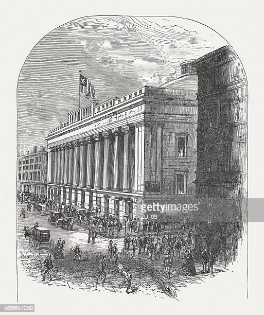 United States Custom House, Wall Street, New York, published 1880