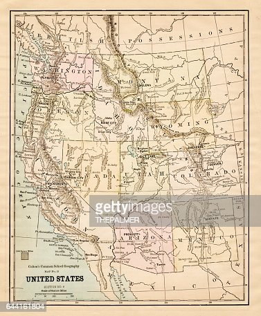Usa Western States Of America Map Stock Illustration Getty Images - 1804 us map