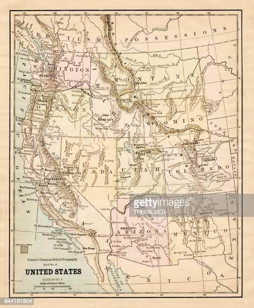 United States map 1881
