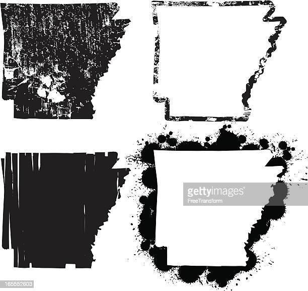 米国アーカンソー州のグランジ - アーカンソー州点のイラスト素材/クリップアート素材/マンガ素材/アイコン素材