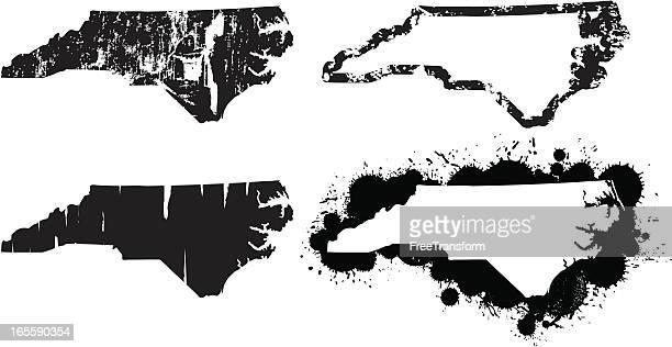 stockillustraties, clipart, cartoons en iconen met united states of grunge - north carolina - north carolina amerikaanse staat