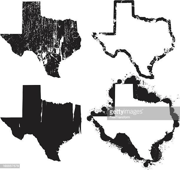 united states of grunge - texas - texas stock illustrations