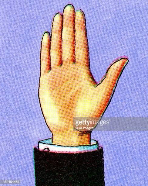 持ち上げられた手 - 宣誓点のイラスト素材/クリップアート素材/マンガ素材/アイコン素材