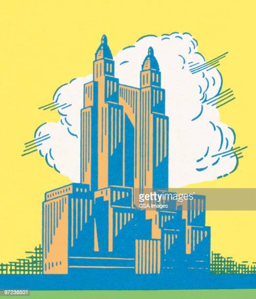 urban building - tall high stock illustrations