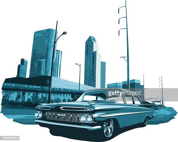 urban lowrider - low rider stock illustrations