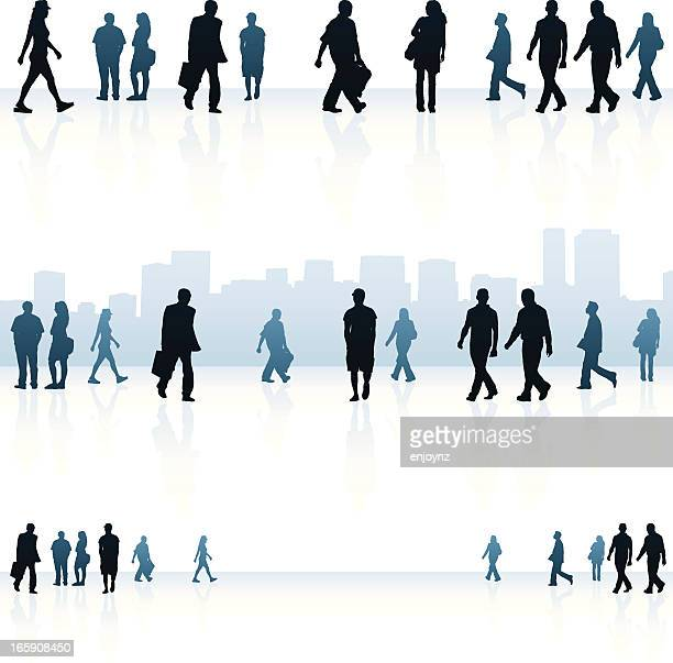 urban people backgrounds - pedestrian stock illustrations, clip art, cartoons, & icons